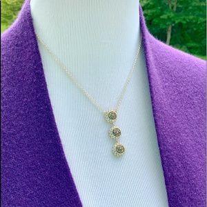 Marcasite Triple-Drop Necklace